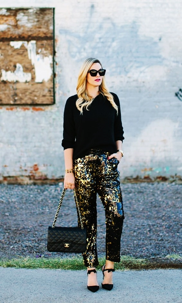 classy ideas to make your sequin outfits christmas