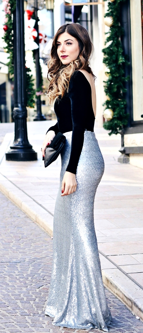 Classy Ideas to make your Sequin Outfits Christmas Party Ready 8