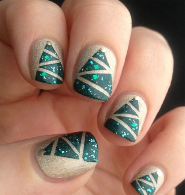 Easy Christmas Nail Art: 40 Easy Christmas Nail Art Designs And Ideas For 2016
