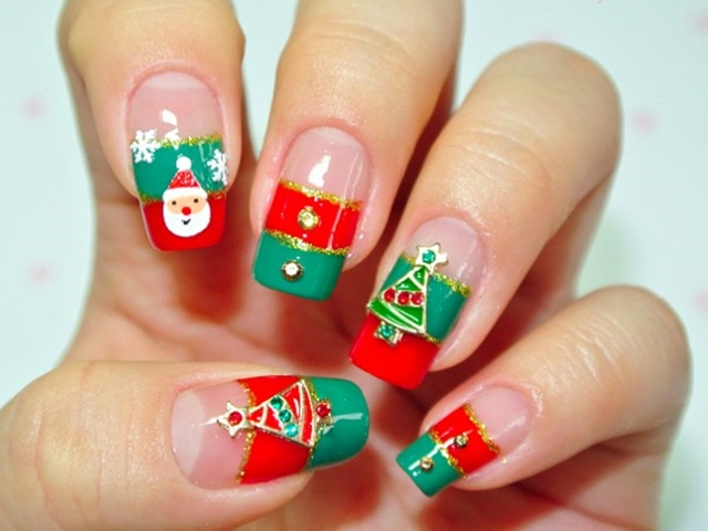 - 40 Easy Christmas Nail Art Designs And Ideas For 2016