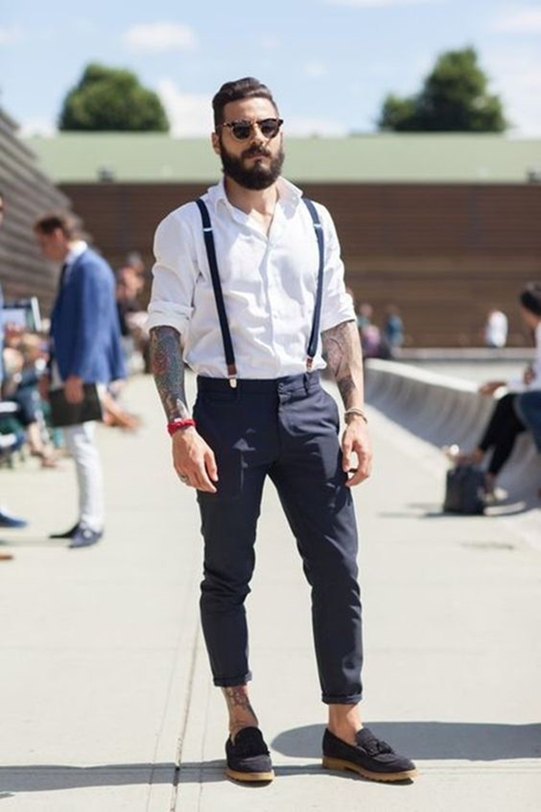 8 Stupendously Manly Street Style Ways To Wear Suspenders