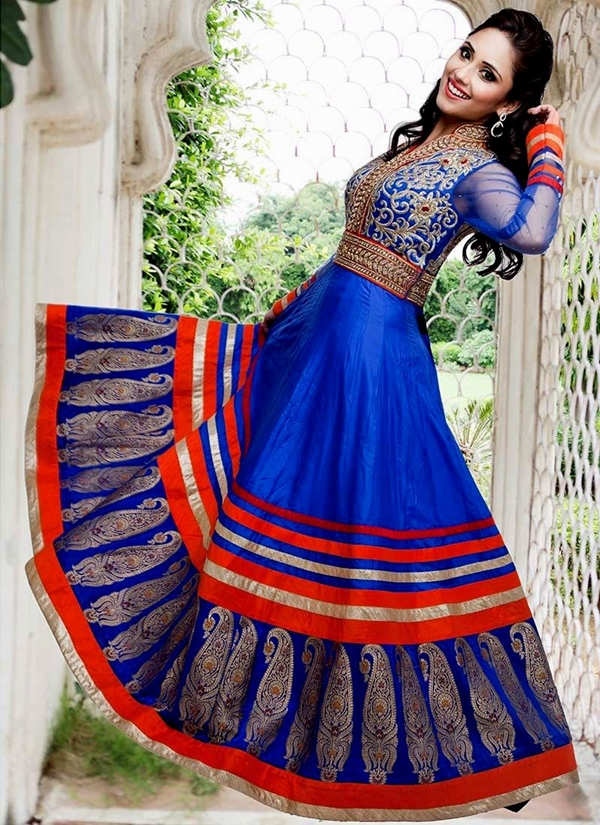 anarkali dress designs blueAnarkali Dress Design Ideas
