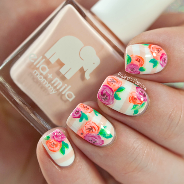 Floral Manicures For Spring And: 8 Best Spring Nail Colors To Grab This Year