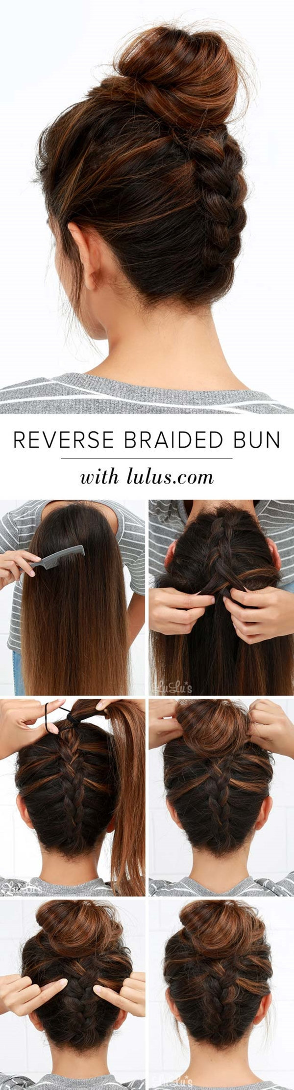5 Examples of How to Make Bun Hairstyles (Step by Step ...