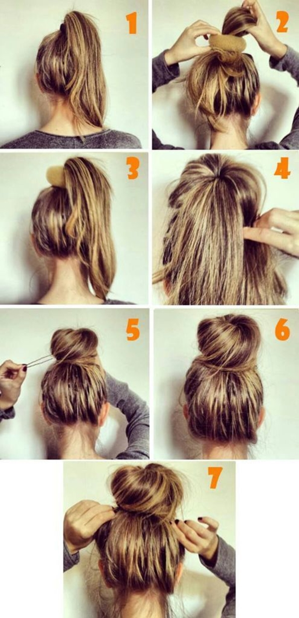 How to Make Bun Hairstyles - 4