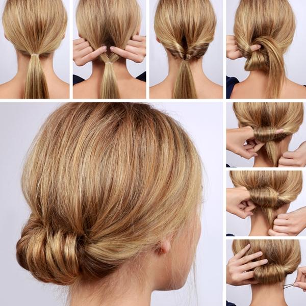 5 Beispiele für die Herstellung von Brötchen Frisuren (Schritt für Schritt Tutorial)
