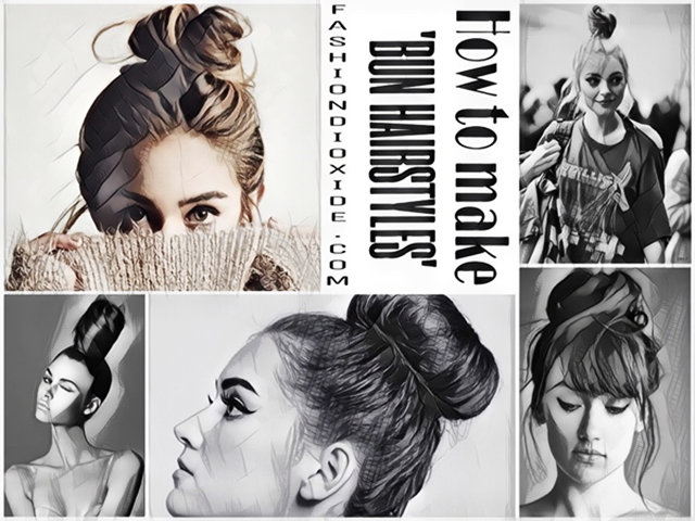 5 Examples Of How To Make Bun Hairstyles Step By Step Tutorial
