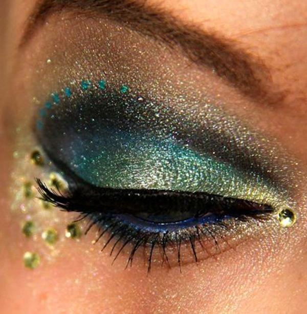 Image result for bejeweled eye makeup