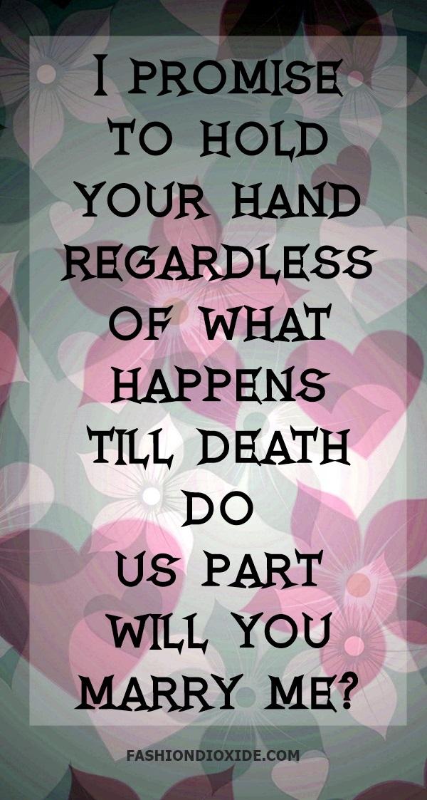 Dead-Romantic Proposal Quotes