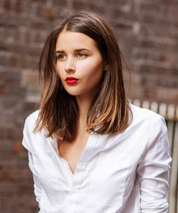 40 Easy Shoulder Length Hairstyles for Women in 2017 - Fashiondioxide