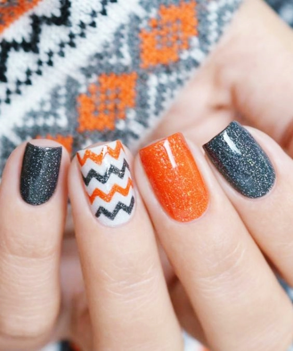 50 Pretty Fall Nail Art Ideas to Try in 2017 - Fashiondioxide