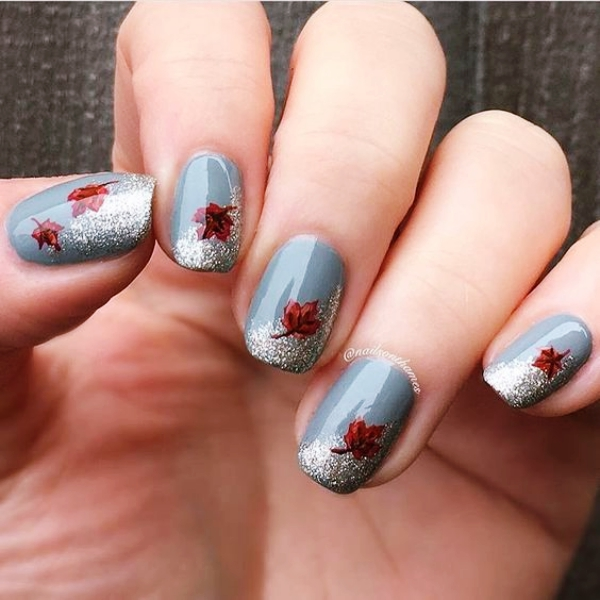 50 pretty fall nail art ideas to try in 2017 fashiondioxide pretty fall nail art ideas prinsesfo Image collections