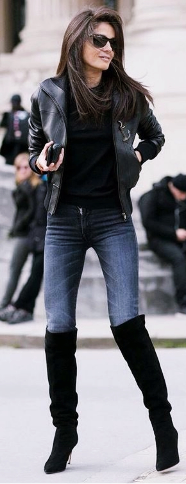 40 Ways to Wear Knee High Boots Outfit this Winter ...