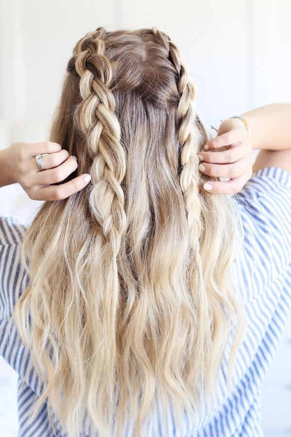 40 schnell und einfach zurück zur Schule Frisur für langes Haar