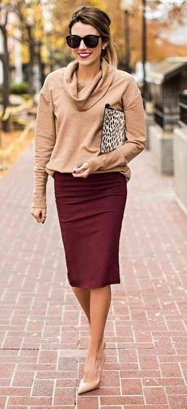 Trendy-ways-to-wear-pencil-dress-at-work-