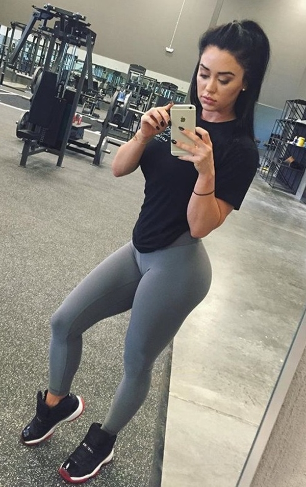 Sexy chick in yoga pants big boobs picture 91