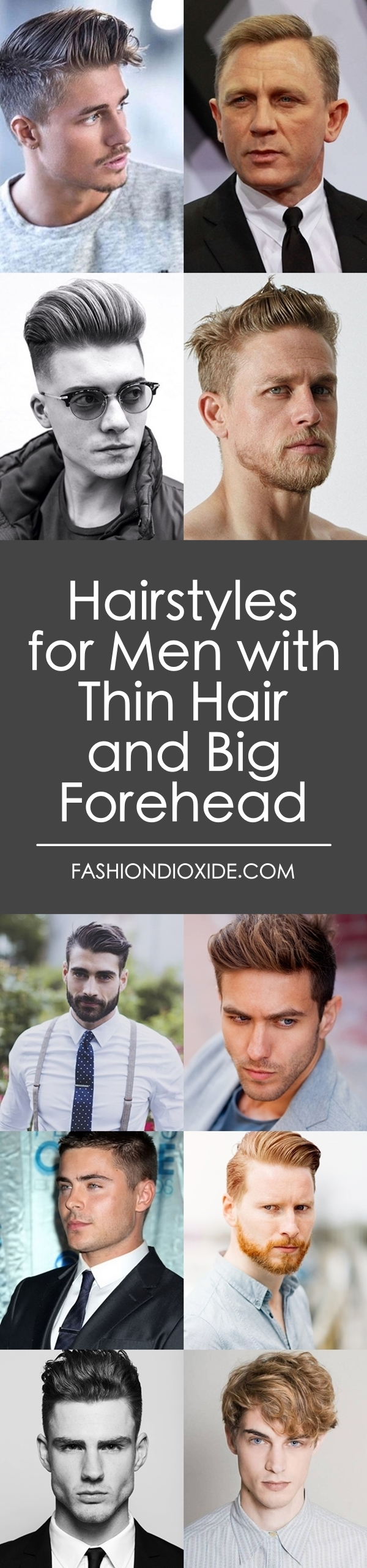 Hairstyles for Men with Thin Hair and Big Forehead