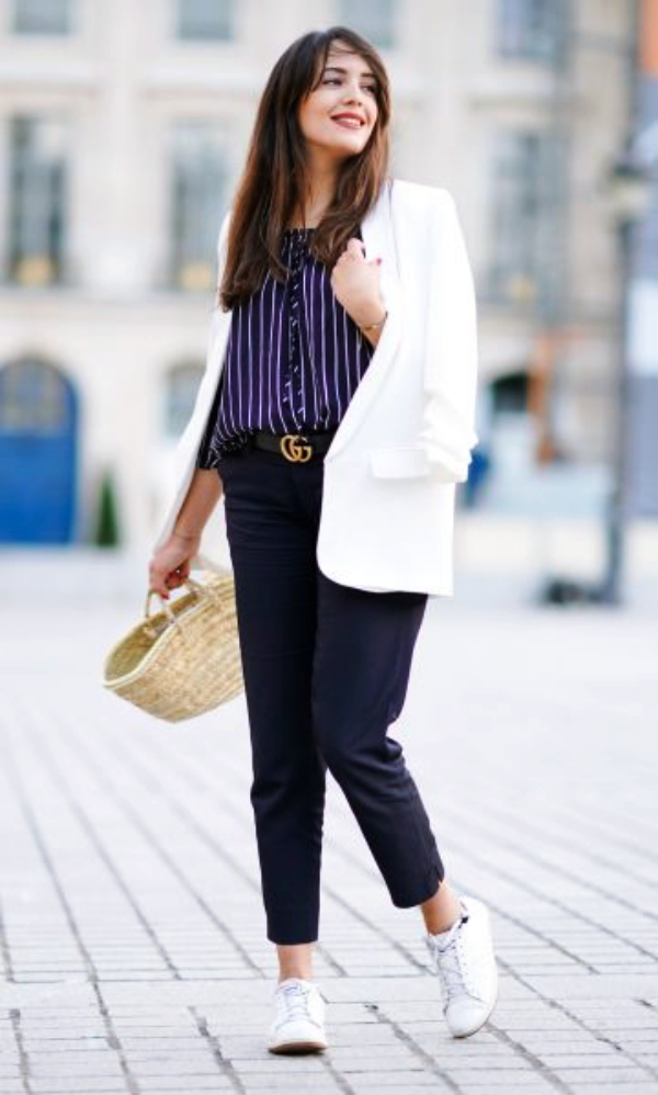 15f5df0faa 70 Informal Work Outfits With Sneakers - Page 5 of 5 - Fashiondioxide