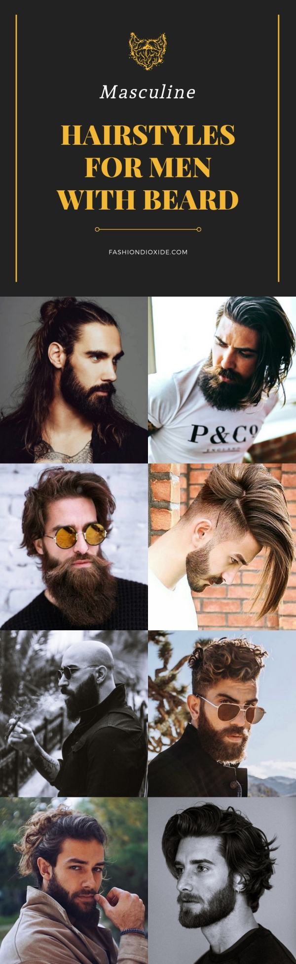 Masculine Hairstyles for Men with Beard