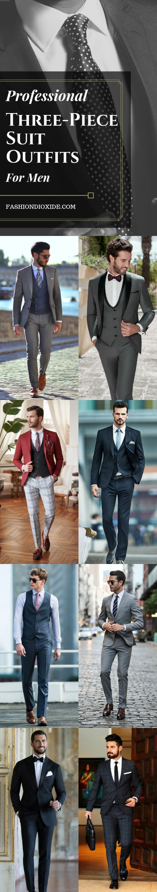 Professional Three-Piece Suit Outfits For Men