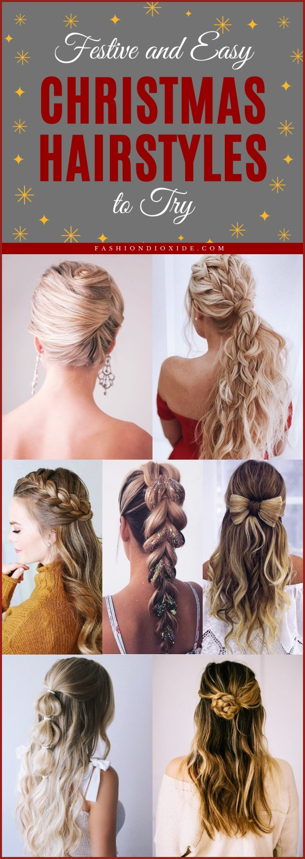 Christmas Hairstyles Easy.31 Festive And Easy Christmas Hairstyles To Try Fashiondioxide